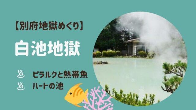 別府白池地獄の場所は?熱帯魚館とピラルクがミスマッチ?